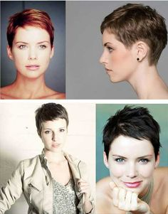 Advertisement: If you love the short hair, you should adore for pixie hairstyle. There is no easiest way to use and cute look more than pixie haircut! Cool Short Hairstyles, Short Pixie Haircuts, 2015 Hairstyles, Pixie Hairstyles, Very Short Hair, Short Hair Cuts, Short Hair Styles, Hair Styles 2014, Shirt Hair