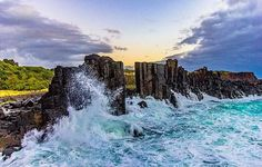 Photo: Instagram of the Day: Once a flourishing basalt quarry in the 1880s, Bombo Headland remains a striking rock formation on the #NewSouthWales South Coast. Credit: instagram.com/abanksy1