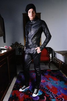 the leather suit , made for the man of the future, Seattle fashion, fall/winter 2014-15