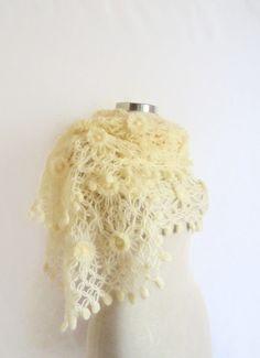 BrideShawl warmstole silk scarf collar by CrochetChi on Etsy