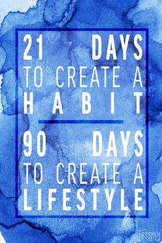 Daily Fitness Motivation: It takes 21 days to create a habit but 90 days to create a lifestyle. Don't make your health a fad, commit to it.