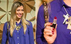 Dupla vinho: batom com o esmalte da mesma cor são a combinação do momento