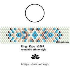 peyote ring pattern,PDF-Download, #266R, beading pattern, beading tutorials, ring pattern