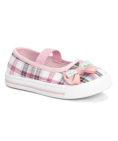Look what I found on #zulily! Pink Plaid Bow Sneaker #zulilyfinds