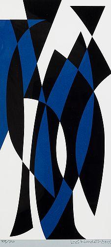 Lars-Gunnar Nordström: Sommitelma, serigrafia, 40,5x19 cm, edition 33/90 - Bukowskis Market 5/2016