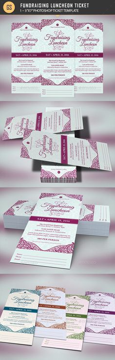 Pastor Anniversary Banquet Ticket Template - Miscellaneous Print - banquet ticket template