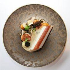 Dover sole, scallops, Jerusalem artichoke, and dashi by @restaurantmerlet #TheArtOfPlating