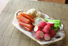 Vegetable Crudités w/ Ranch Dip- 1/12 scale | Flickr - Photo Sharing!