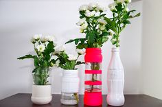 Déco, recyclage bouteilles