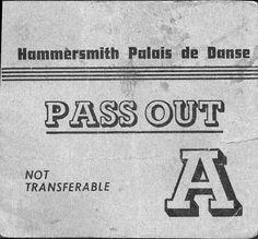 Pass Out from Hammersmith Palais de Danse
