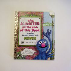 Sesame Street Book  The Monster at the End by MyForgottenTreasures, $4.00