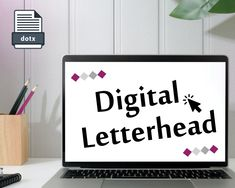 Digital Letterhead | Word format | 100% custom | DOTX template | Made by professional graphic designer