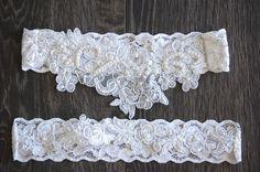 Vintage Style Wedding Garter Set in Ivory by WeddingAccentsOlivia, $19.95
