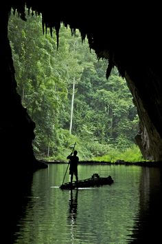 Lang River, flowing out of Lod Cave, Mae Hong Son, Thailand