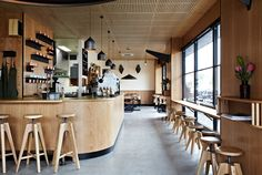 Melbourne coffee bar designed by Sunkland in collaboration with Life Space Journey.  Photography by Armelle Habib