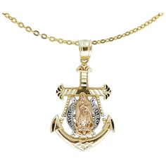 Anchor Pendant in Gold and Diamonds Nautical Artistry by