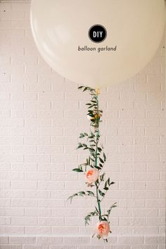 DIY Floral Balloon Garland - Style Me Pretty Living