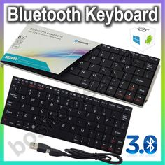 Super Slim Mini Bluetooth 3.0 Wireless Keyboard for Laptop Desktop, Win 8/7/XP