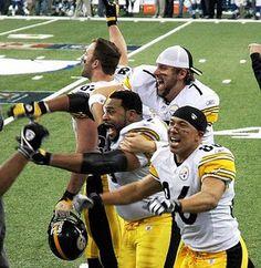 4 of the best Steelers-Roethlisberger, Heath Miller, Hines Ward, Jerome Bettis But Football, Pittsburgh Steelers Football, Pittsburgh Sports, Best Football Team, Football Season, Steelers Pics, Here We Go Steelers, Steelers Stuff, Steeler Nation