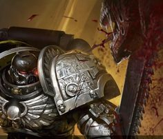 40kartwork:      Deathwatch space marine from Fantasy Flight Games    (via fenrir-chained)