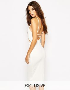 NaaNaa Midi Body-Conscious Dress With Cut Out And Low Back