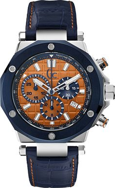 Gc | Blue Y06010l1 -3 Crocodile-effect Leather Watch for Men | Lyst My Hot A Fuck Man Style