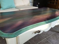 just a coffee table no way this is art spitchallenge, painted furniture, I m in Love