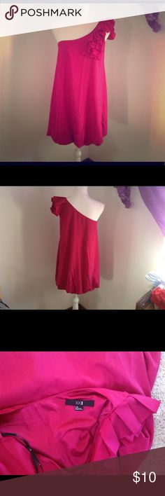 Hot pink one shoulder dress Bubble skirt   Forever 21 Forever 21 Dresses One Shoulder