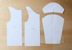 making own patterns using old clothes as templates tutorial.