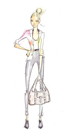 Dallas did all of the amazing illustrations in HOW TO LOOK EXPENSIVE.  www.dallasshaw.com