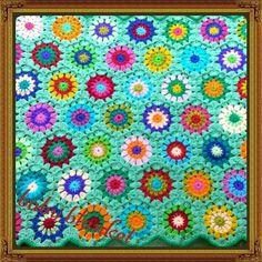 Crochet baby blanket. Gehaakt babydekentje. Www.facebook.com/naald5