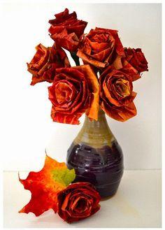 Hoy compartimos este precio DIY para hacer flores de hojas :D  Quedan preciosas y muy especiales.