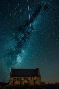 #newzealand #nz #space #sky #milkyway #stars #church #god #shepherd #fallingstar