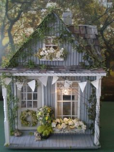 Reverie Cottage Custom Dollhouse by cinderellamoments on Etsy, $555.00