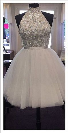 High Neck White Tulle Skirt Homecoming Dresses,Back O Short Homecoming Dresses,Custom Made Short Prom Dresses ,Beaded Short Prom Gowns,Short Graduation Dresses,Wedding Party Dress http://www.luulla.com/product/584927/high-neck-white-tulle-skirt-homecoming-dresses-back-o-short-homecoming-dresses-custom-made-short-prom-dresses-beaded-short-prom-gowns-short-graduation-dresses-wedding-party-dress