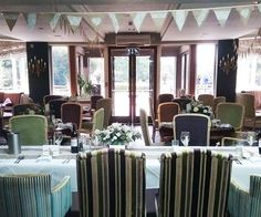 Set Up For A Wedding Reception At The Manor Christchurch In Dorset Country House Venues