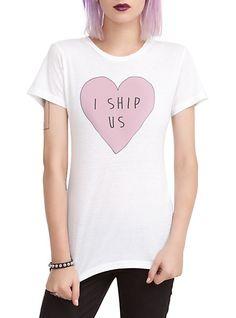 I Ship Us Heart Girls T-Shirt | Hot Topic