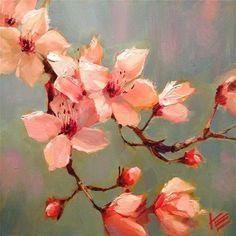 "Daily Paintworks - ""Bloom"" - Original Fine Art for Sale - © Krista Eaton Art Floral, Fine Art Auctions, Still Life Art, Fruit Art, Whimsical Art, Fine Art Gallery, Beautiful Paintings, Painting Inspiration, Flower Art"