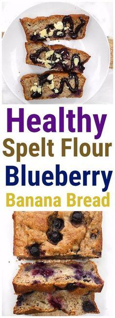 Spelt Flour Vegan Blueberry Banana Bread