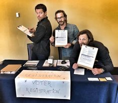 Richard Speight, Jr.@dicksp8jr Hey #Supernatural family, if you are in Chicago at #spnchi, go to the merchants room and register to vote! It's easy, patriotic, and - if you believe @jarpad - delicious. @CreationEnt @mishacollins