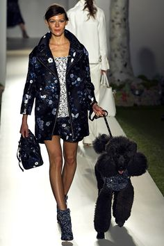 That dog is so stinking CUTE!! I want to play fetch with you my little dark precious... Mulberry Spring 2013 RTW - Runway Photos - Fashion Week - Runway, Fashion Shows and Collections - Vogue - Vogue