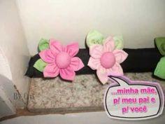 Veda Portas Enfeitado com Flores de Fuxico