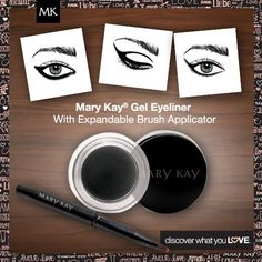 Create a beautiful, dramatic eye-look with Mary Kay Gel Eyeliner w/ brush applicator. Shop: www.marykay.com/LaShon