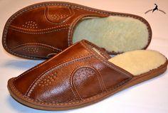 Hulk Brown Wool Sheepskin Slippers