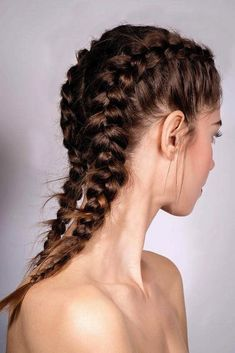 easy summer hair styles // boxer braids Pigtail Hairstyles, French Braid Hairstyles, Weave Hairstyles, Straight Hairstyles, Cool Hairstyles, Hairstyles Videos, Protective Hairstyles, Wedding Hairstyles, Natural Hair Styles