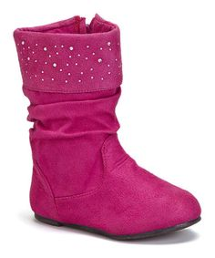 Another great find on #zulily! Berry Shimmer Slouch Boot #zulilyfinds