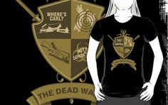 the Dead Walk An excellent design from Fishbiscuit Designs Geek Shirts, Geek Stuff, Walking, Cool Stuff, T Shirt, Design, Geek Things, Supreme T Shirt, Tee Shirt