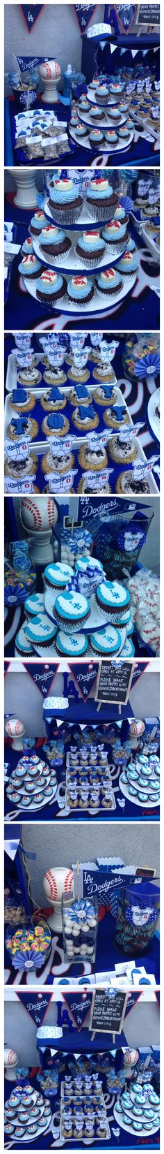 Shared by Where YoUth Rise Baby Shower Parties, Baby Shower Themes, Baby Shower Decorations, Shower Ideas, Dodgers Party, Dodgers Baseball, Baby Bash, Baseball Birthday Party, Baby Shower Gender Reveal
