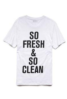 So Fresh & So Clean Tee | 21 MEN So fresh and so clean, clean #21Men #GraphicTee