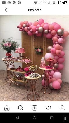 Unique Birthday Party Ideas, 21st Bday Ideas, 1st Birthday Party For Girls, Birthday Goals, Birthday Balloon Decorations, Girl Birthday Themes, Birthday Diy, Unicorn Birthday Parties, Birthday Balloons